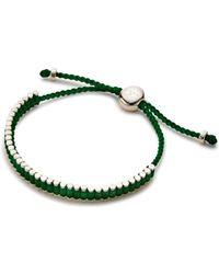 Links of London - Mini Friendship Bracelet In Emerald Green - Lyst