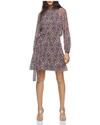 Reiss - Avis Printed Cutout Dress - Lyst
