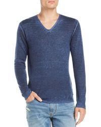 John Varvatos - Faded V-neck Pullover Sweater - Lyst