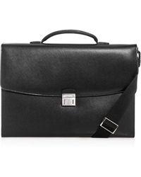 1fb0cfb448 Lyst - Ralph Lauren Saddle Single-gusset Briefcase in Natural for Men