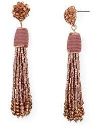 Aqua - Metallic-finish Cluster Tassel Drop Earrings - Lyst