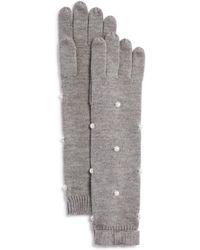 Kate Spade - Embellished Merino Wool Gloves - Lyst