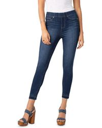 Liverpool Jeans Company - Chloe Pull-on Cropped Skinny Jeans In Mayfield - Lyst