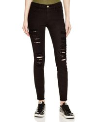 FRAME - Le Colour Ripped Jeans In Film Noir - Lyst