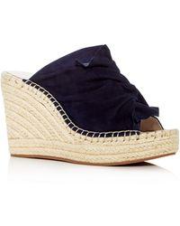 Kenneth Cole - Women's Odele Suede Espadrille Wedge Slide Sandals - Lyst