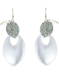 Alexis Bittar - Crystal Encrusted Lime Drop Earrings - Lyst