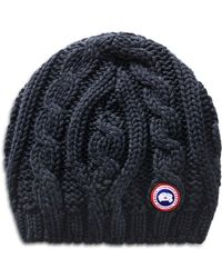 Canada Goose - Cable-knit Beanie Hat - Lyst