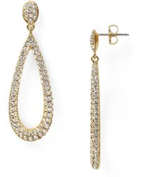 Nadri - Open Long Teardrop Earrings - Lyst