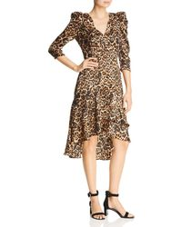 980bba26 Lucy Paris - Drew Puff - Sleeve Leopard Dress - Lyst