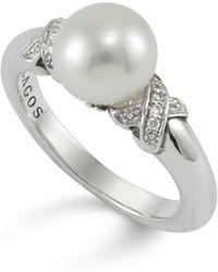 Lagos - Luna Pearl Diamond X Ring - Lyst