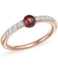 Pomellato - M'ama Non M'ama Ring With Garnet And Diamonds In 18k Rose Gold - Lyst