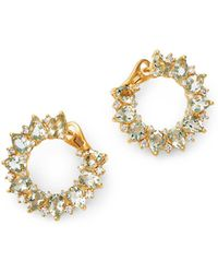 Kiki McDonough - 18k Yellow Gold Juno Green Amethyst & Diamond Sunflower Earrings - Lyst