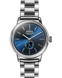 Shinola - Bedrock Blue Sunray Dial Dress Watch - Lyst