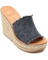 Dolce Vita - Women's Pim Platform Wedge Espadrille Slide Sandals - Lyst