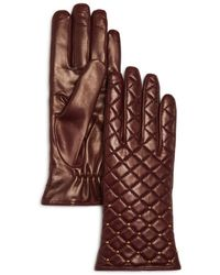 Bloomingdale's - Cashmere Lined Quilted Leather Gloves - Lyst