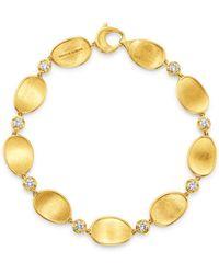 Marco Bicego - 18k Yellow Gold Lunaria Diamond Bracelet - Lyst