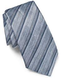 John Varvatos Linen Tonal Stripe Classic Tie