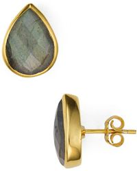 Argento Vivo - Faceted Teardrop Stud Earrings - Lyst