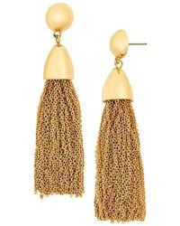 BaubleBar - Tassel Link Drop Earrings - Lyst