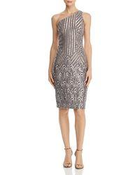 Aqua - Sequined One - Shoulder Dress - Lyst