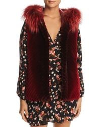 Maximilian - Reversible Sheared Beaver Fur & Leather Vest With Fox Fur Trim - Lyst