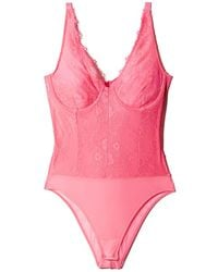 723ced60e4453 Bardot - Essie Lace & Mesh Bodysuit - Lyst