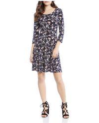 Karen Kane - Floral-print Swing Dress - Lyst