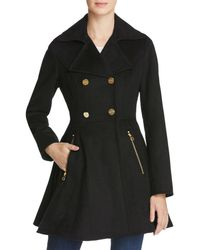 Laundry by Shelli Segal - Fit - And - Flare Double - Breasted Coat - Lyst