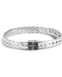 John Hardy - Modern Chain Bracelet With Black Spinel - Lyst