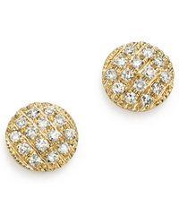 Dana Rebecca - 14k Yellow Gold Diamond Lauren Joy Mini Earrings - Lyst