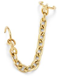 Zoe Chicco - 14k Yellow Gold Oval Chain Link Ear Cuff - Lyst
