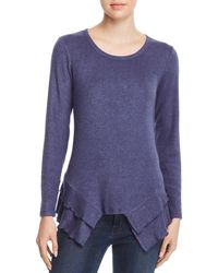 Status By Chenault - Tiered Ruffle Trim Sweater - Lyst