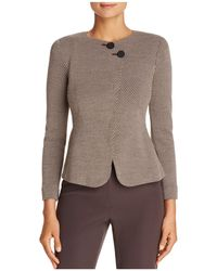 Armani | Asymmetric-button Cropped Jacket | Lyst