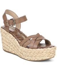 Sam Edelman - Women's Darline Espadrille Wedge Heel Platform Sandals - Lyst