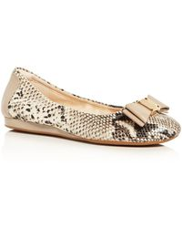 16c7704177ac2 Lyst - Sam Edelman Flats Felicia Ballet with Bow in Brown