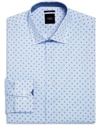 W.r.k. | Micro Dot And Open Square Slim Fit Dress Shirt | Lyst