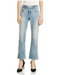 Maje - Popsem Cropped Flared Jeans - Lyst