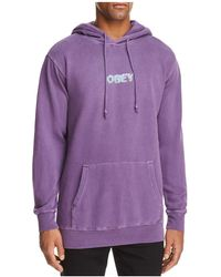 Obey - Creep Scan Hooded Sweatshirt - Lyst