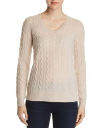 C By Bloomingdale's - Cable-knit Cashmere Sweater - Lyst