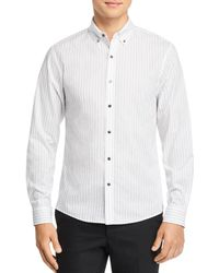 Michael Kors - Dobby Top-stitched Stripe Slim Fit Button-down Shirt - Lyst