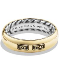 David Yurman - Streamline Ring With 18k Gold - Lyst