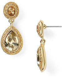 Carolee | Pave Stone Double Drop Earrings | Lyst