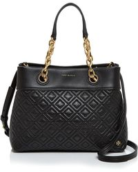 Tory Burch | Fleming Small Leather Tote | Lyst