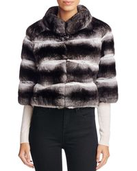 Maximilian - Anna Chinchilla Cropped Jacket - Lyst