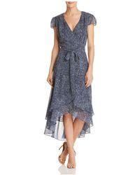 Betsey Johnson - Printed Wrap Dress - Lyst