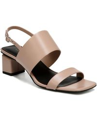 Via Spiga - Women's Forte Leather Slingback Block Heel Sandals - Lyst