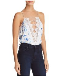 Cami NYC - Charlie Reversible Lace-up Silk Top - Lyst