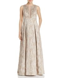 Eliza J - Embellished Metallic Gown - Lyst