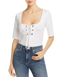Guess - Sabrina Lace-up Bodysuit - Lyst