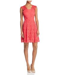 Adelyn Rae - Felicity Lace Fit-and-flare Dress - Lyst